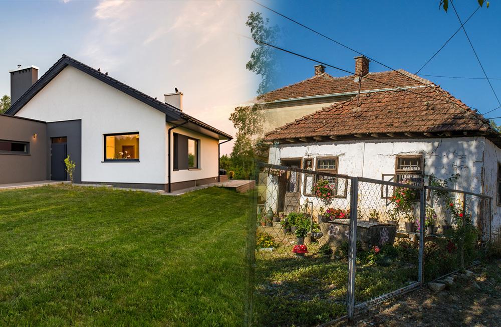 maisons récentes, maisons anciennes